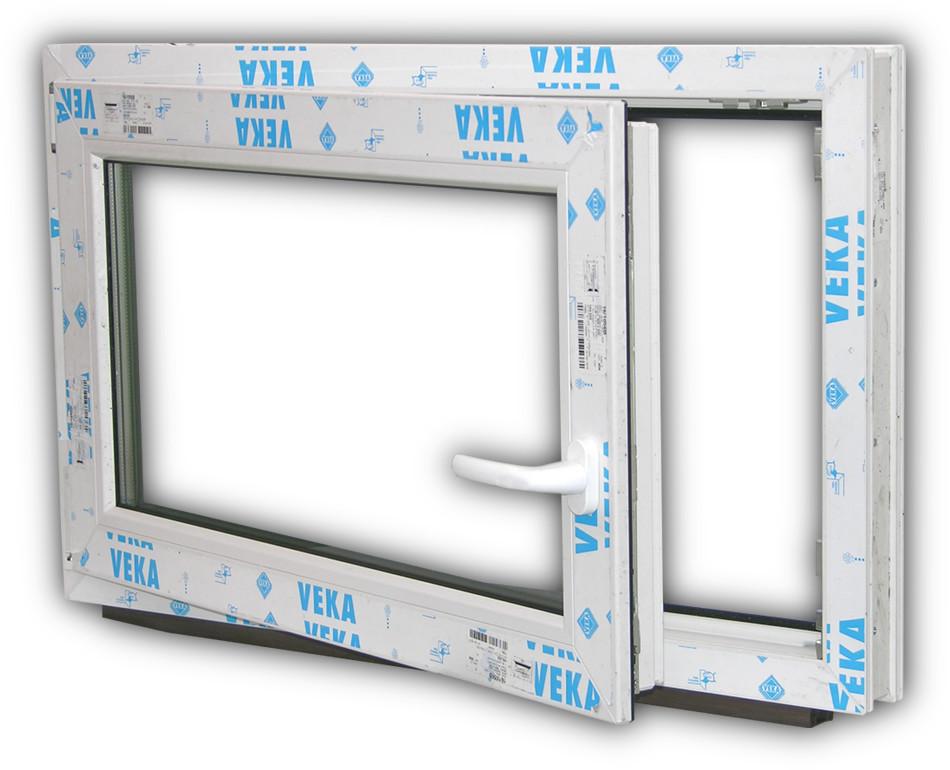 Veka profil fenster 3fach verglasung anthrazit grau for Kunststoff kellerfenster