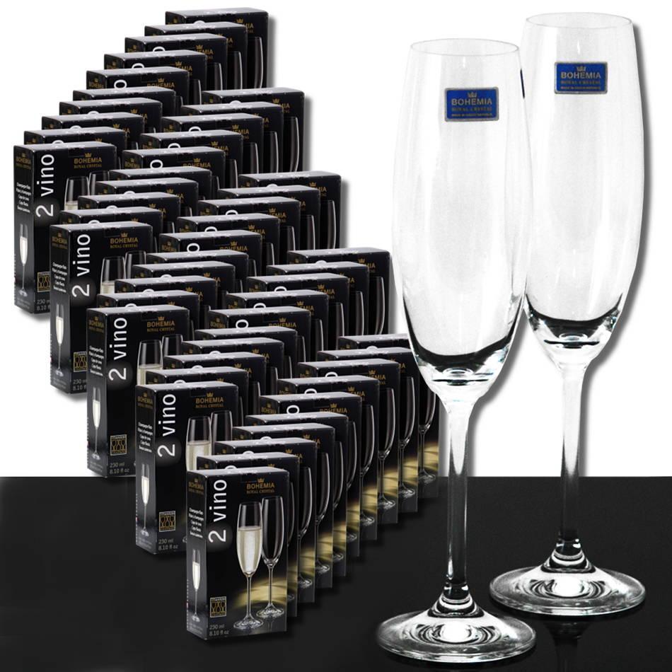 100 pezzi flute in vetro cristallo di bohemia flute for Bohemia bicchieri
