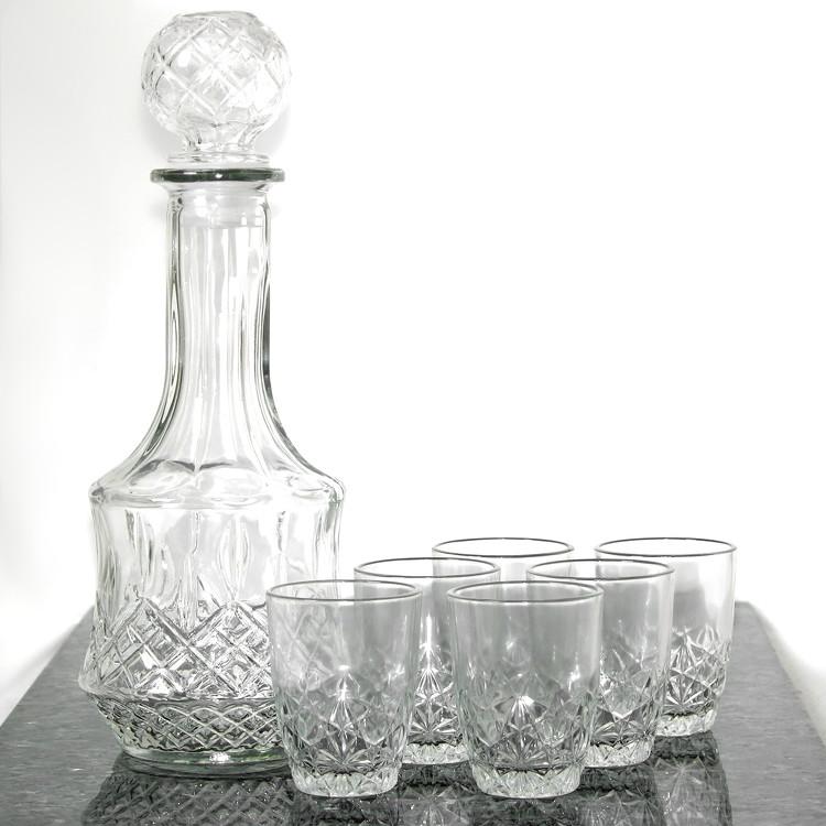 cognac lik r set mit karaffe und 6 glas lik rgl ser sherry gl ser grappagl ser ebay. Black Bedroom Furniture Sets. Home Design Ideas
